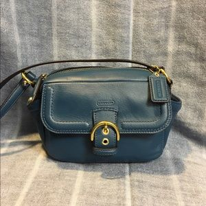 Coach Teal Campbell Camera Bag